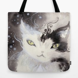 Stardust Pawing the Paradox Tote Bag