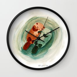 Will you be my otter half? Wall Clock
