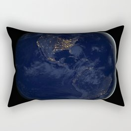 24. Brilliance at Night: The Americas in Darkness Rectangular Pillow