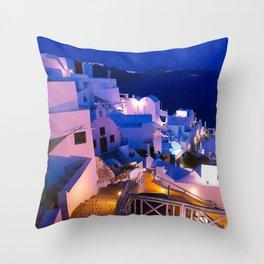 Santorini Sunset III Throw Pillow