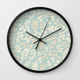 Seamless pattern on leaves theme, Autumn seamless pattern  Wall Clock