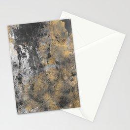 Black Motion On Gold Stationery Cards