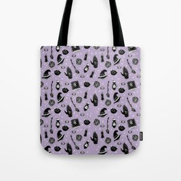 Witchy Magic on Purple Tote Bag