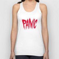 panic at the disco Tank Tops featuring PANIC by Chris Piascik