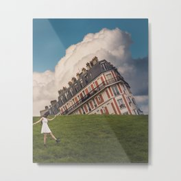 Tilted house of Paris Metal Print