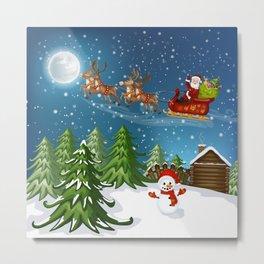 Christmas Scene Metal Print
