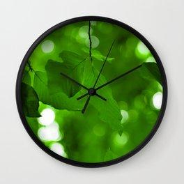 Nature's Solar Cells Wall Clock