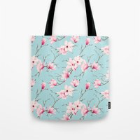 magnolia Tote Bags featuring Magnolia by EclipseLio