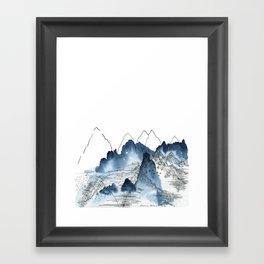 Love of Mountains Framed Art Print