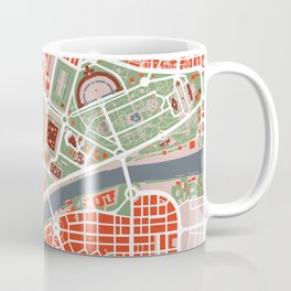 Seville city map classic Coffee Mug
