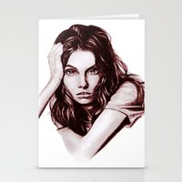 daria Stationery Cards featuring Daria by Olga Noes