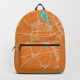 Salzgitter, Germany, Gold, Blue, City, Map Backpack
