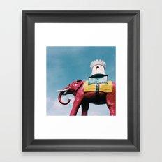 Elephant and Castle Framed Art Print