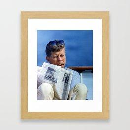 John F Kennedy Smoking Framed Art Print
