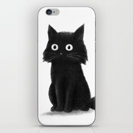 Sitting Cat (mono) iPhone Skin