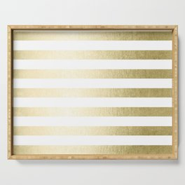 Simply Striped Gilded Palace Gold Serving Tray