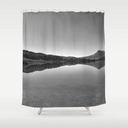Sunrise At The Lake. Bw photography Shower Curtain