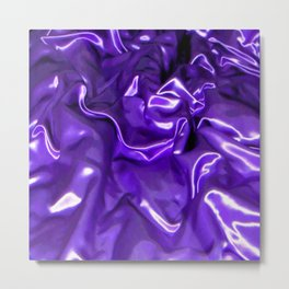Ultra Violet Satin Material Metal Print