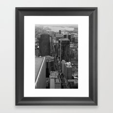 Montreal downtown in B&B Framed Art Print