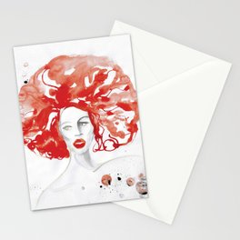 Mama Ru with a Huge Red Wig Stationery Cards