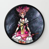 madoka Wall Clocks featuring Madoka Magica by Refrigerator-Art