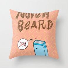 Novembeard Throw Pillow