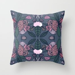 Geometric Delicious Floral Garden Pattern 1 Throw Pillow