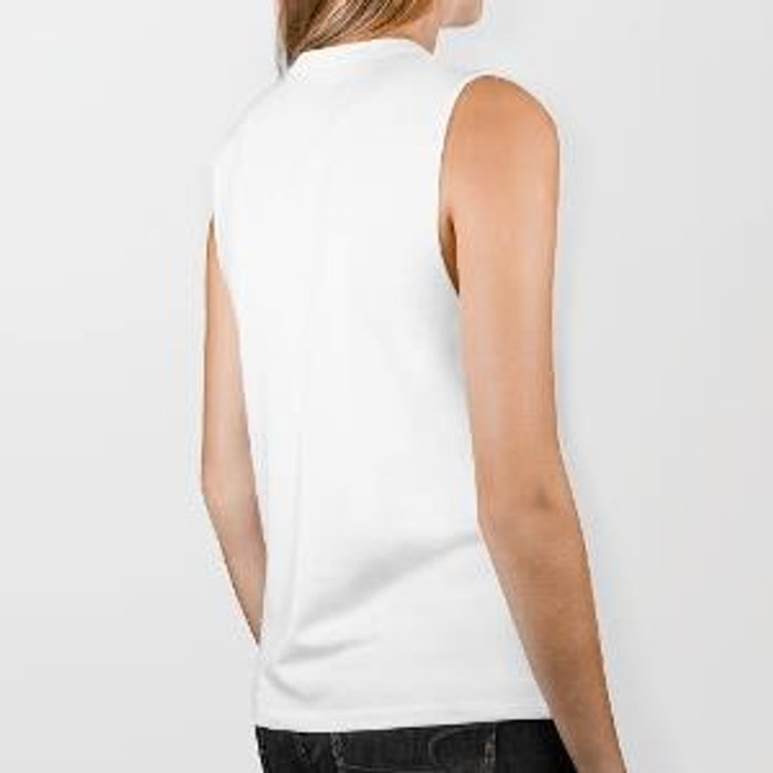 The Black Square and a White Rose Biker Tank