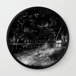 Into The Shadows - Grain Series Wall Clock
