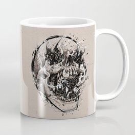 skull with demons struggling to escape Coffee Mug
