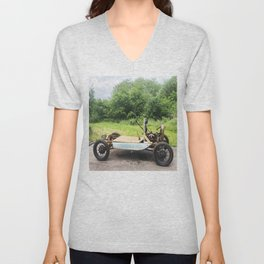 1929 Model A Car Photo Unisex V-Neck