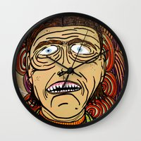danny ivan Wall Clocks featuring Ivan by Patty Hogan