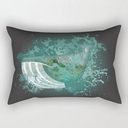 Whale emoji in splash abstract Rectangular Pillow