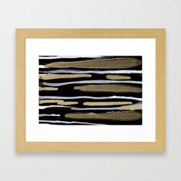 Golden splash Framed Art Print
