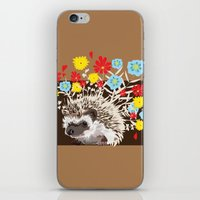 hedgehog iPhone & iPod Skins featuring hedgehog by Caracheng