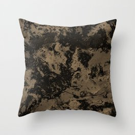 Galaxy in Taupe Throw Pillow