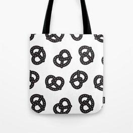 Postmodern Pretzels in Black + White Tote Bag