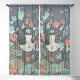 Curious Cat Sheer Curtain