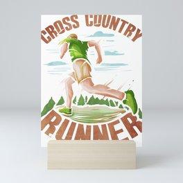 Fun Runner Gift Cross Country Runner Mini Art Print