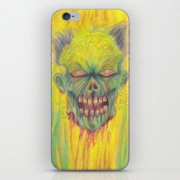 Floating Zombie Head Art iPhone Skin