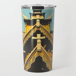Vintage Stave Church Travel Mug