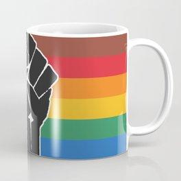 Rainbow LGBT BLM BLACK LIVES MATTER gay pride  Coffee Mug