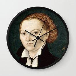 """Lucas Cranach the Elder """"Katharina von Bora"""" Wall Clock"""