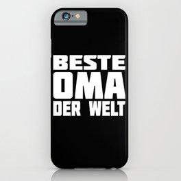 Best Grandma In The World Motif iPhone Case