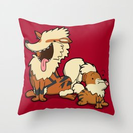 Pokémon - Number 58 & 59 Throw Pillow