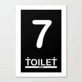 TOILET CLUB #7 Canvas Print