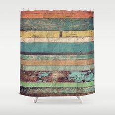 Wooden Vintage  Shower Curtain