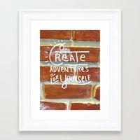 creativity Framed Art Prints featuring Creativity by bajitamaria