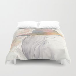 Girl with a hat Duvet Cover