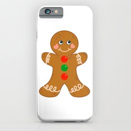 Holiday Gingerbread Man Christmas Cookie Baking Love iPhone Case